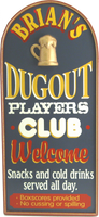 Dugout Player&#039;s Club Sign Personalized