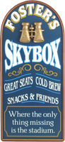 Skybox Sports Plaque Personalized