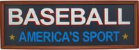 Baseball America&#039;s Sport Plaque