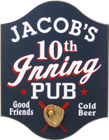 10th Inning Pub Baseball Sign