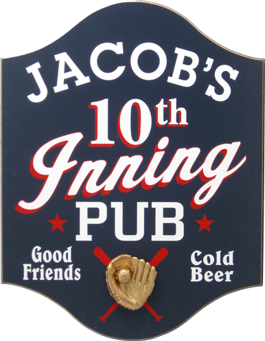 10th Inning Pub Baseball Sign