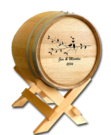 Wedding Barrel Design B500: Lovebirds