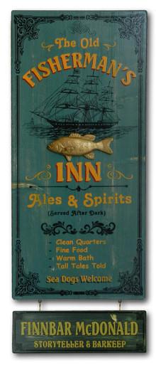 Fisherman's Inn Vintage Pub Sign