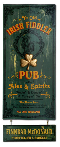 Irish Fiddler Vintage Pub Sign