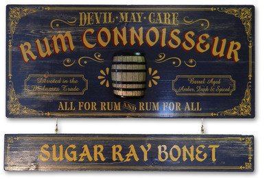 Rum Connoisseur Plaque with Optional Hanging Nameboard