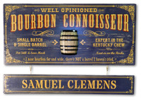 Bourbon Connoisseur Plaque with Optional Hanging Nameboard