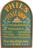 Dad&#039;s Fix It Shop Custom Plaque