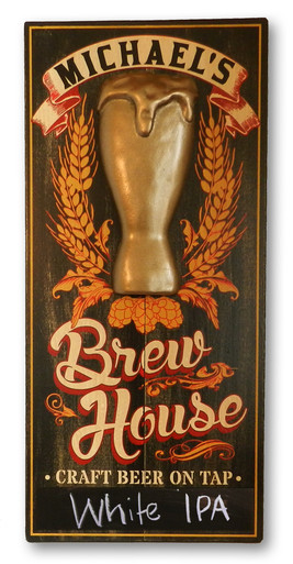 Brew House Sign with Chalkboard