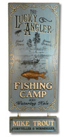 Lucky Angler Fishing Camp Sign