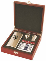 Flask & Playing Card Gift Set