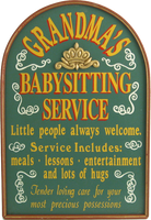 Grandma's Babysitting Service Custom Plaque