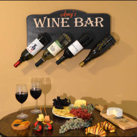 Personalized Wine Bottle Holder Plaque