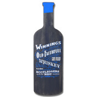 "Bottle Shaped ""Old Faithful"" Whiskey Sign"