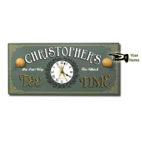 Tee Time Clock Personalization Options