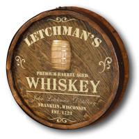 Whiskey Distillery Quarter Barrel Sign