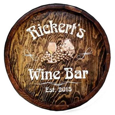 Wine Bar Quarter Barrel Sign