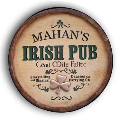 Irish Pub Quarter Barrel Sign