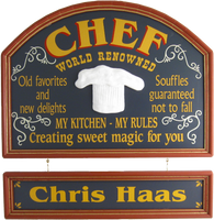 Custom Chef Sign Kitchen Decor