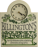 Personalized Gourmet Kitchen Clock
