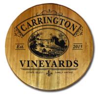 Vintage Vineyards Wine Barrel Head Sign