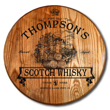 Scotch Whisky Barrel Head Plaque
