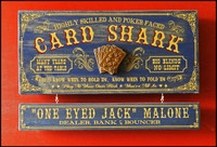Vintage Card Shark Plaque
