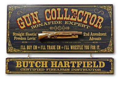 Vintage Gun Collector Plaque