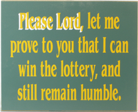 Lottery Prayer Sign