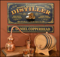 Distiller Plaque with Hanging Name Board Sign