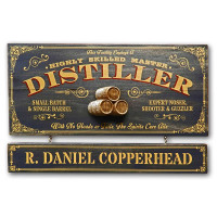 Vintage Distiller Plaque