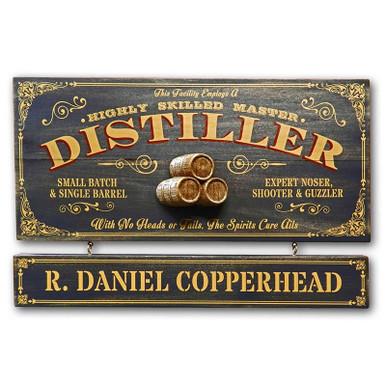 Vintage Distiller Plaque