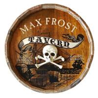 Pirate's Tavern Quarter Barrel Sign