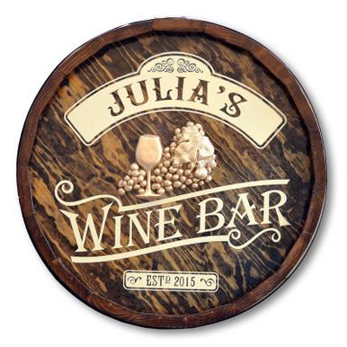 Wine Bar Vintage Quarter Barrel Sign