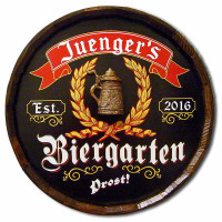 Vintage Biergarten II Quarter Barrel Sign