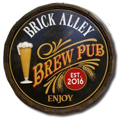 Vintage Brew Pub Sign