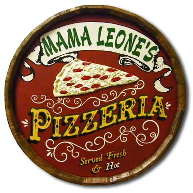 Pizzeria Vintage Quarter Barrel Sign
