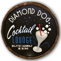 Cocktail Lounge Vintage Quarter Barrel Sign