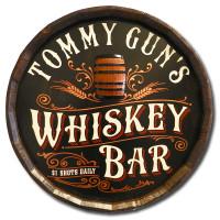 Vintage Whiskey Bar Quarter Barrel Sign