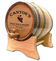Grapes Personalized Wine Oak Barrel