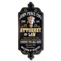 Attorney at Law Personalized Wall Art Sign