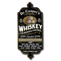 Antique Medicinal Whiskey Plaque