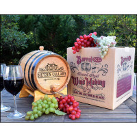Personalized Wine Making Kit with Oak Aging Barrel