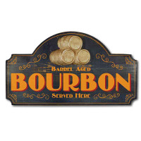 Vintage Bourbon Bar Plaque