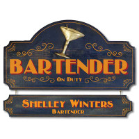 Vintage Bartender Home Bar Plaque
