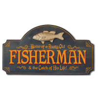 Fisherman's Catch Vintage Plaque