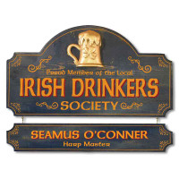 Vintage Irish Pub Plaque