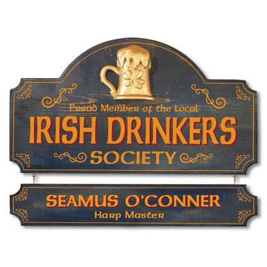 Vintage Irish Pub Plaque