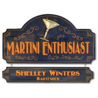 Martini Enthusiast Vintage Plaque