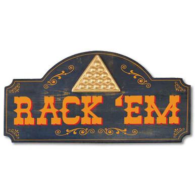 Rack 'Em Billiard Sign