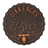 Personalized Brew Pub Metal Plaque - Oil Rubbed Bronze Finish